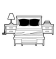 bedroom with nightstand black color section vector image