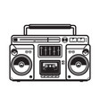 Boombox on white background design element for