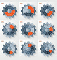 business and industry gear style infographic vector image