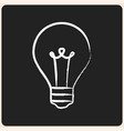 business ideas on chalk board icon vector image