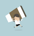businesswoman running with big cup of coffee vector image vector image