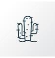 cactus icon line symbol premium quality isolated vector image
