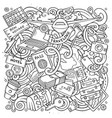 cartoon doodles travel vector image