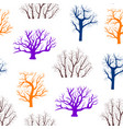 cartoon silhouette tree seamless pattern vector image vector image