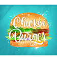 Chiken burger color vector image vector image
