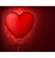 Classical red balloon heart vector image vector image