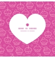 colorful cupcake party heart silhouette pattern vector image vector image