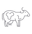 Cow line icon sign on