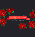 creative christmas background with red ribbon and vector image vector image