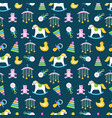 cute babies toys seamless pattern design vector image
