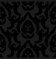 damask ikat black elegant seamless vector image vector image