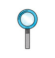 dentistry mirror isolated icon vector image