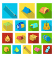 different kinds of tents flat icons in set vector image vector image