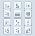 Drinks set tech vector | Price: 1 Credit (USD $1)