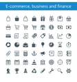 E-commerce business and finance vector image