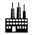 eco factory icon simple style vector image