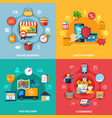 ecommerce colored composition set vector image vector image