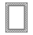elegant beautiful frame isolated icon vector image vector image