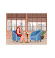 female drinking coffee in restaurant place vector image vector image