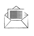 figure e-mail message to write and communication vector image vector image