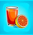 fresh juice pop art vector image vector image