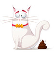 funny cute cat vector image vector image