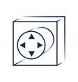 gamepad controller symbol vector image vector image