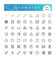 Geometry Line Icons Set vector image