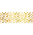 golden metallic leaves seamless horizontal vector image vector image