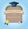 Graduation Invitation Postcard or Certificate vector image