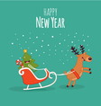 Happy NewYear card vector image vector image