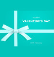 happy valentines day symbol love gift on sweet vector image vector image