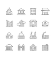 House and building line icons Real estate vector image vector image