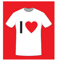 I love t shirt vector image