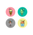 Ice cream symbol icon logo icon template ready