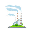 Icon Power Plant on Tablet vector image