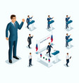 isometrics mr president voting elections debate vector image vector image