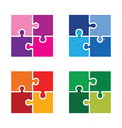 jigsaw colourful set vector image