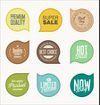 labels design elements collection vector image vector image