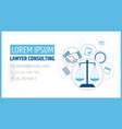 lawyer consulting justice scales a business card vector image vector image