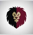 lion head mascot logo flat design vector image vector image