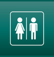 man and woman icon on green background modern vector image vector image