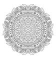 mandala doodle drawing round coloring vector image vector image