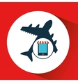 mobile phone e-commerce and travel airport vector image