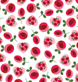 mod roses and hearts vector image vector image