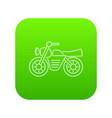 motorcycle icon green vector image vector image
