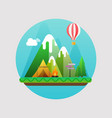 mountains summer landscape concept with flat vector image vector image