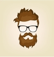 mustache beard glasses hairstyle vector image vector image