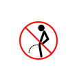 no peeing line icon pee prohibition sign vector image vector image