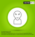 perfect black icon or pictogram on green vector image